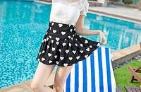 夏季显高短裙搭配