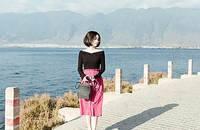 花苞啞光麂皮褶皺半身裙