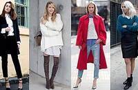 毛衣+衬衫经典叠穿套路秋冬就是时髦温暖两不误