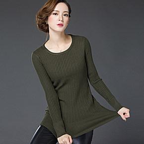 樱思2016秋冬新款女士套头高领毛衣修身显瘦纯色长袖针织打底衫女