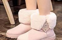 绒面中筒雪地靴,时尚保暖