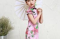 复古旗袍,夏天给孩子美美哒出门