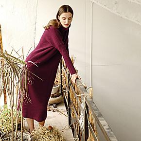 欧美风十足重磅且富品质的针织长裙