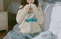 日式珊瑚绒睡衣,小宅女的猫冬计划
