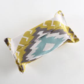 清新北欧暖色系列棉麻纸巾盒,棉麻布料,结实耐用.