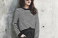 時髦精:條紋毛衣穿出不一樣的秋天