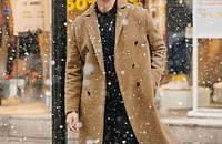 高贵优雅的驼色大衣,男神力max