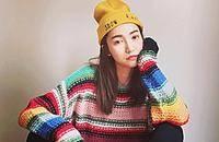 彩色条纹毛衣让秋冬出彩