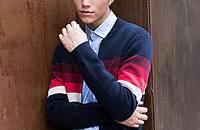 型男时尚针织毛衫搭配潮流