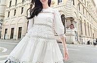 純白連衣裙 仙氣飄飄擋不住