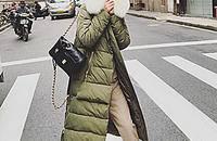 别让自己冷着了,大毛领足够温暖你