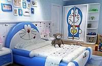 可爱卡通床,孩子的秘密基地