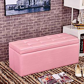 欧式实木皮艺储物凳简约长沙发凳床尾凳试换鞋凳搁脚收纳凳子包邮