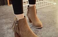 流苏靴 灵动的美丽