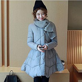 2016孕妇装冬装韩版时尚棉袄外套上衣羽绒服中长款冬季怀孕衣服潮图片
