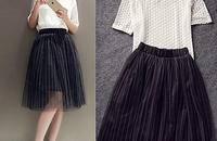 韩版修身蕾丝网纱裙套装两件套连衣裙女潮