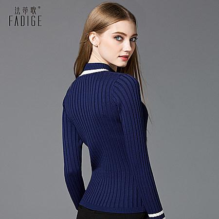 半高领针织衫紧身毛衣女秋冬套头修身长袖打底衫