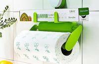 创意纸巾筒强力吸盘厨房用品收纳置物架