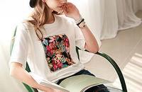 圆领短袖纯棉印花T恤