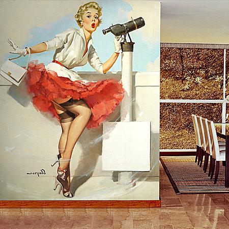 个性艺术主题怀旧墙壁纸3D无缝墙纸