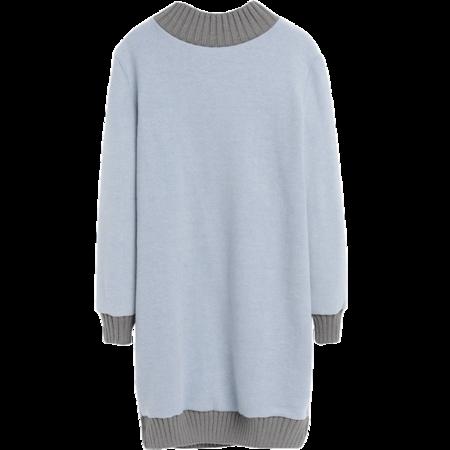 蜜妃儿2016秋冬装新款女装宽松显瘦长袖针织连衣