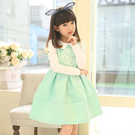 新款韩版潮范中大童背心连衣裙纯棉公主裙