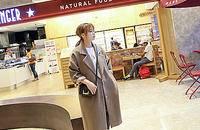 宽松茧型中长款毛呢大衣女装秋冬季呢子外套