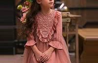 女童公主风高贵甜美喇叭袖连衣裙