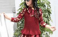女童韩版针织马甲两件套裙