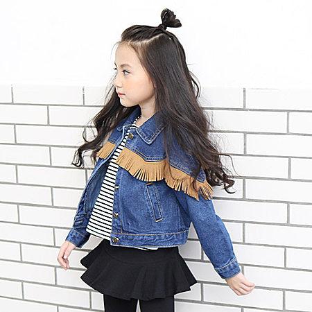 女童牛仔外套