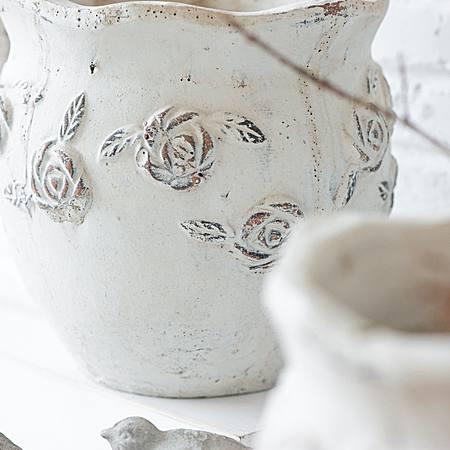 粗质红陶花盆 花器 花插