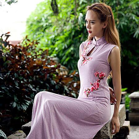 店品牌2017夏季新款修身连衣裙 定制款