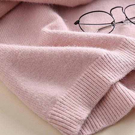 清新条纹圆领针织裙