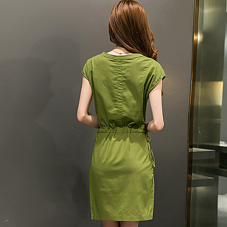 复古棉麻连衣裙