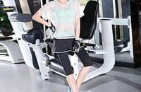 韩国瑜伽服三件套新款健身七分裤+运动内衣文胸