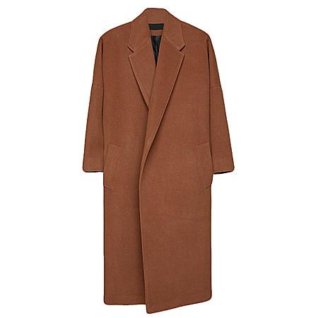 时尚超长款毛呢大衣