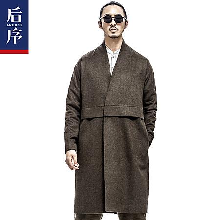 复古风中长款羊毛大衣