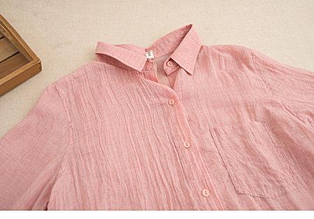 随性百搭纯色轻薄舒适 大版长袖衬衣