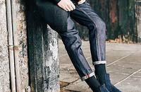 VIISHOW简约直筒修身牛仔裤