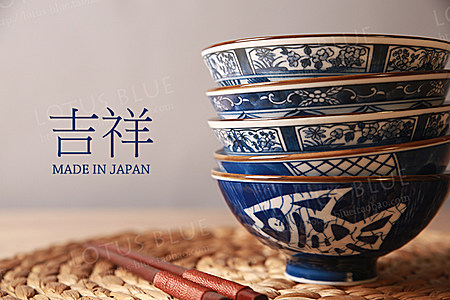 日本古典米饭碗