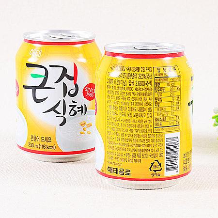 韩国进口零食品 海太甘米汁饮料