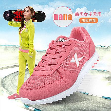 夏季女士慢跑步鞋正品网面透气经典旅游运动鞋子