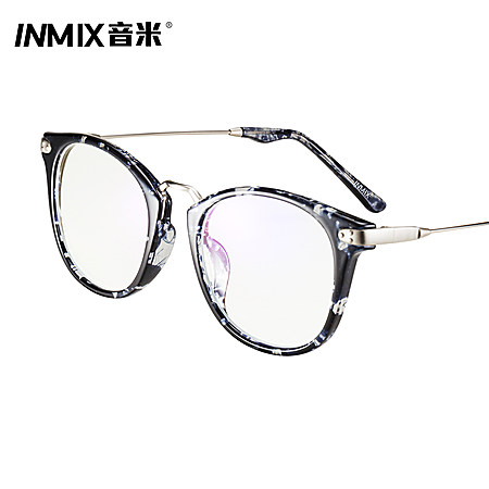 音米防辐射眼镜蓝光电脑护目镜女复古眼睛眼镜架