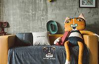 呜呜狗系列法兰绒冬季办公室毛毯