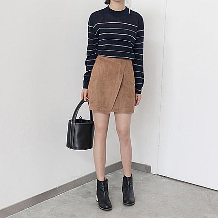 chic感麂皮绒小A裙