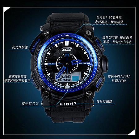 大表盘男式品牌手表男正品时尚运动手表