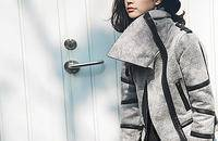 羊羔毛麂皮绒短外套