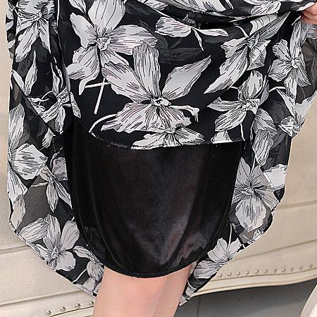 布鲁贝瑞韩版宽松显瘦碎花印花吊带长裙连衣裙