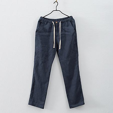 男装亚麻裤 休闲长裤男士麻裤子100%纯亚麻裤