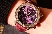 韩版新款大牌时尚女表石英表六针带日历手表